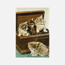 4 Cute Victorian kittens Rectangle Magnet