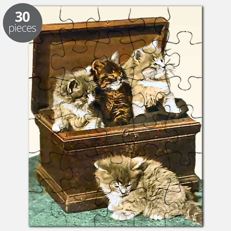 4 Cute Victorian kittens Puzzle