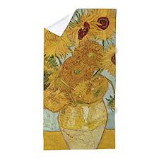 Van Gogh Sunflowers Beach Towel
