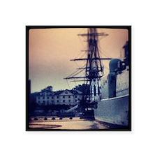 "USS Constitution Square Sticker 3"" x 3"""