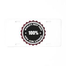World's Best Mom Aluminum License Plate
