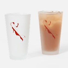 Mermaid Diver Drinking Glass