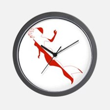 Mermaid Diver Wall Clock