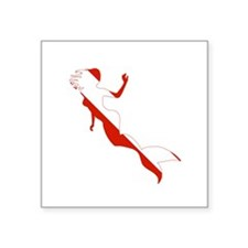"Mermaid Diver Square Sticker 3"" x 3"""