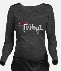 Tribal White.png Long Sleeve Maternity T-Shirt