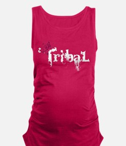 Tribal White.png Maternity Tank Top