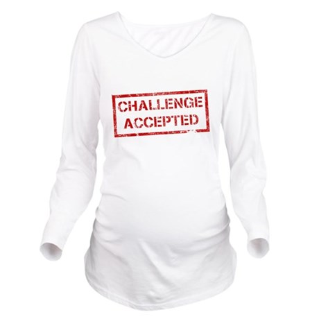 Challenge-Accepted.png Long Sleeve Maternity T-Shi