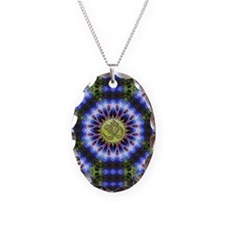 Om Symbol Blue Forest Energy M Necklace
