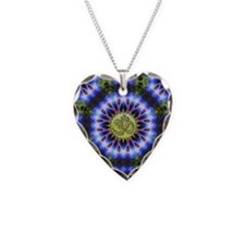 Om Symbol Blue Forest Energy Necklace