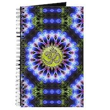 Om Symbol Blue Forest Energy Mandala Journal