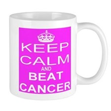 KEEP CALM and BEAT CANCER Mugs