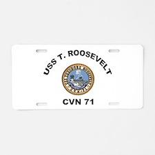 USS T Roosevelt CVN 71 Aluminum License Plate