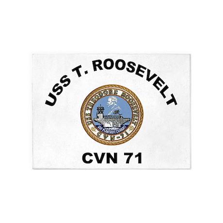 USS T Roosevelt CVN 71 5'x7'Area Rug