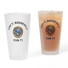 USS T Roosevelt CVN 71 Drinking Glass