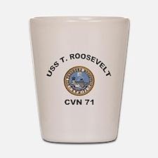 USS T Roosevelt CVN 71 Shot Glass