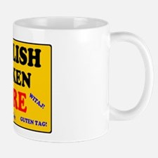 YELLOW SIGN - ENGLISH SPOKEN HERE Mugs