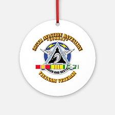 307th Avn Bn w/ SVC Ribbon Ornament (Round)