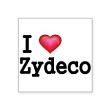 I love Zydeco Sticker