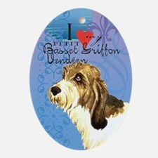 PBGV Oval Ornament