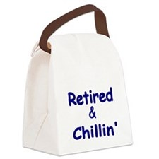 Retired and Chillin Canvas Lunch Bag