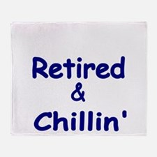 Retired and Chillin Throw Blanket