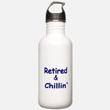 Retired and Chillin Water Bottle