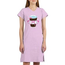 Nerdy Kawaii Coffee Women's Nightshirt