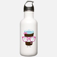 Nerdy Kawaii Coffee Water Bottle