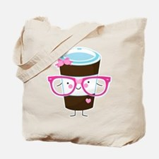 Nerdy Kawaii Coffee Tote Bag