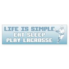 Eat, Sleep, Play Lacrosse Bumper Bumper Sticker