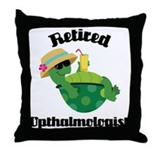 Retired Opthalmologist Throw Pillow