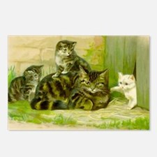 Cute Victorian Cat and Ki Postcards (Package of 8)