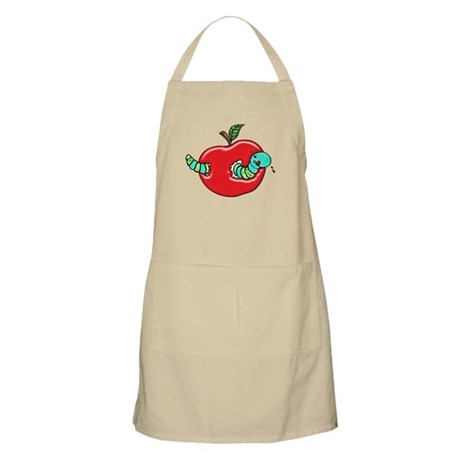 Apple and a Hungry Worm Apron