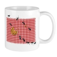 Ant Picnic on Red Checkered Cloth Mugs