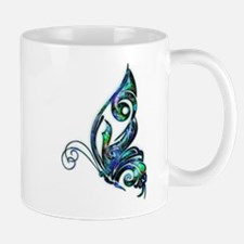 Abalone Shell Art Deco Butterfly Mugs