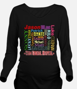 GH guy names copy.png Long Sleeve Maternity T-Shir