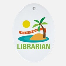 Retired Librarian (Tropical) Ornament (Oval)