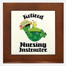 Retired Nursing Instructor Framed Tile