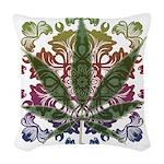 Weeds emblem copy.png Woven Throw Pillow