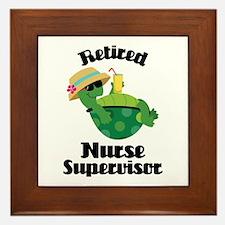 Retired Nurse Supervisor Framed Tile