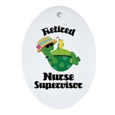 Retired Nurse Supervisor Ornament (Oval)