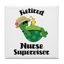 Retired Nurse Supervisor Tile Coaster