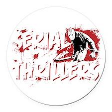 SerialThrillers trans Round Car Magnet