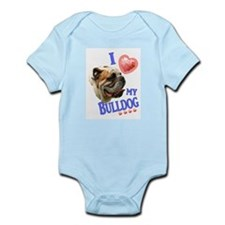 I Love My Bulldog Body Suit