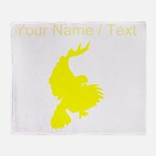 Custom Yellow Hawk Silhouette Throw Blanket