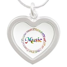 MUSIC Silver Heart Necklace
