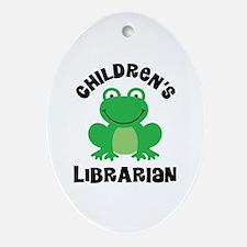 Children's Librarian Ornament (Oval)