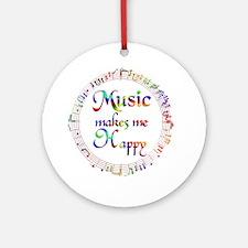 Music makes me Happy Ornament (Round)