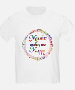 Music makes me Happy T-Shirt