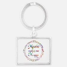 Music makes me Happy Landscape Keychain